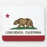 Bandera de la república de Long Beach California Tapete De Raton