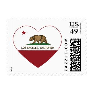 Bandera de la república de Los Ángeles California Franqueo