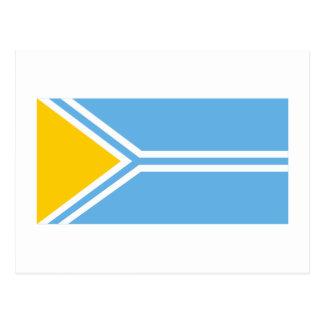Bandera de la república de Tyva Tarjeta Postal