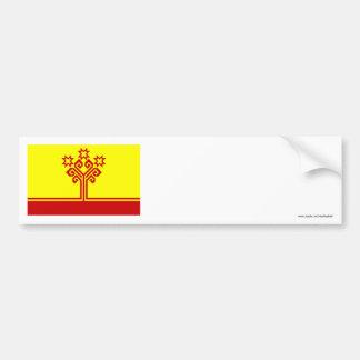 Bandera de la república del Chuvash Pegatina Para Auto