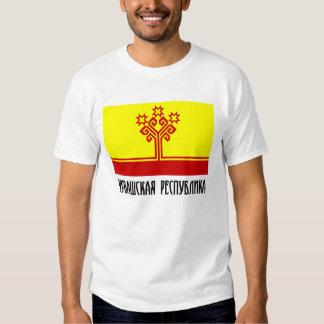 Bandera de la república del Chuvash Remera