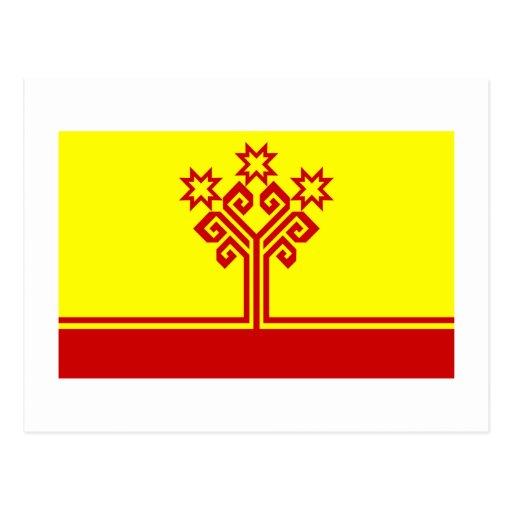 Bandera de la república del Chuvash Tarjetas Postales