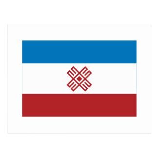Bandera de la república del EL de Mari Tarjetas Postales