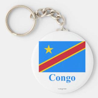 Bandera de la república Democratic de Congo con no Llaveros Personalizados