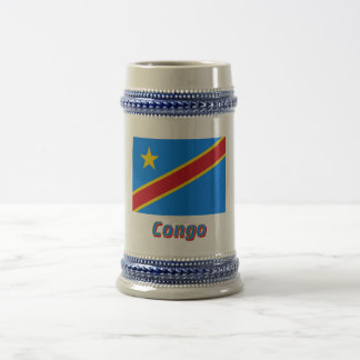 Bandera de la república Democratic de Congo con no Jarra De Cerveza