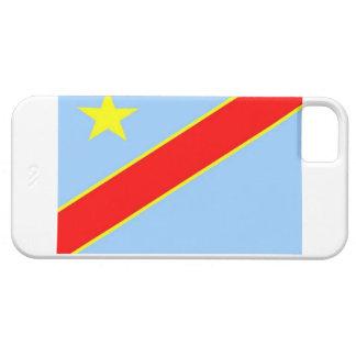 Bandera de la república Democratic de Congo iPhone 5 Funda