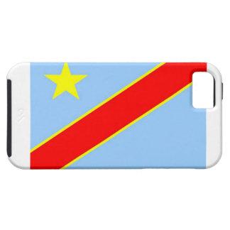 Bandera de la república Democratic de Congo iPhone 5 Case-Mate Cobertura
