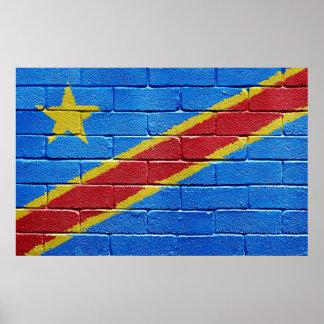 Bandera de la República Democrática del Congo Póster