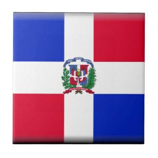 Bandera de la República Dominicana Azulejo Cuadrado Pequeño