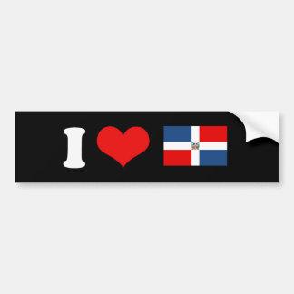 Bandera de la República Dominicana Pegatina De Parachoque