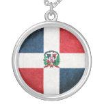 Bandera de la República Dominicana Colgante Redondo