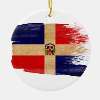 Bandera de la República Dominicana Adorno Redondo De Cerámica