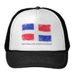 Bandera de la República Dominicana del Grunge Gorros Bordados
