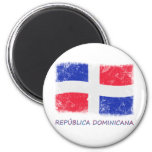 Bandera de la República Dominicana del Grunge Imán Para Frigorifico