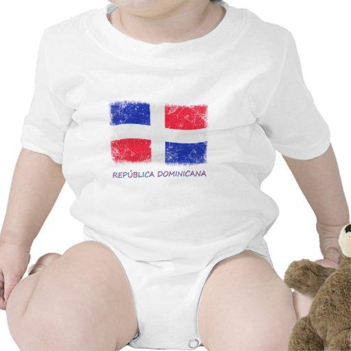 Bandera de la República Dominicana del Grunge Camiseta