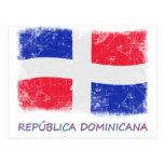 Bandera de la República Dominicana del Grunge Postal
