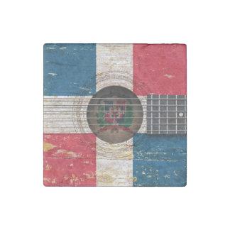 Bandera de la República Dominicana en la guitarra Imán De Piedra