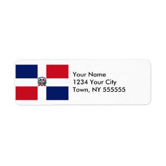 Bandera de la República Dominicana Etiqueta De Remitente