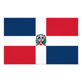Bandera de la República Dominicana Impresión Fotográfica