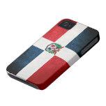 Bandera de la República Dominicana Case-Mate iPhone 4 Cárcasas