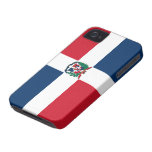 Bandera de la República Dominicana iPhone 4 Cárcasa