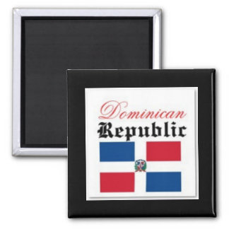 Bandera de la República Dominicana Imán Cuadrado