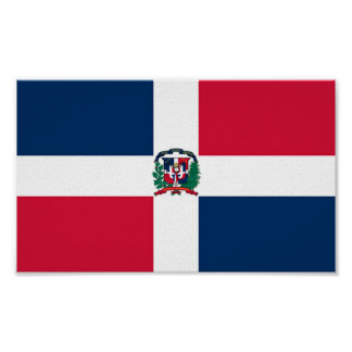 Bandera de la República Dominicana Posters