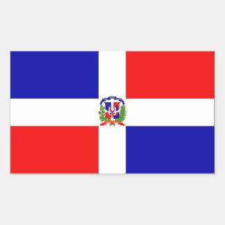 Bandera de la República Dominicana Rectangular Pegatina