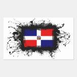 Bandera de la República Dominicana Rectangular Pegatinas