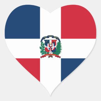 Bandera de la República Dominicana Pegatina En Forma De Corazón
