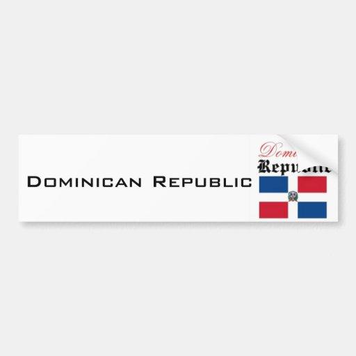 Bandera de la República Dominicana Pegatina Para Auto
