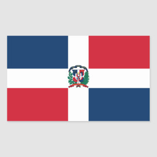 Bandera de la República Dominicana Pegatina Rectangular