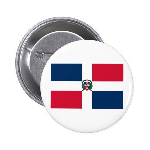 Bandera de la República Dominicana Pin Redondo 5 Cm
