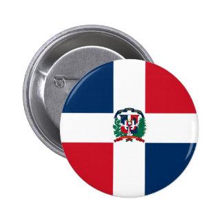 Bandera de la República Dominicana Pin Redondo De 2 Pulgadas