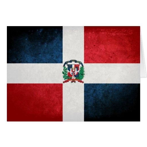 Bandera de la República Dominicana Tarjeta Pequeña