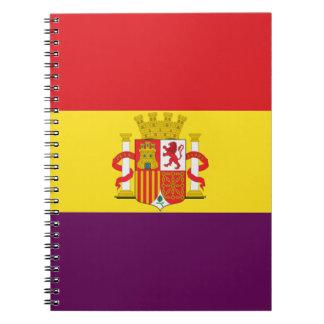 Bandera de la República Española Notebook