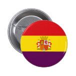 Bandera de la República Española Pin Redondo De 2 Pulgadas