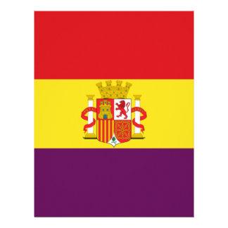 Bandera de la República Española Plantilla De Membrete