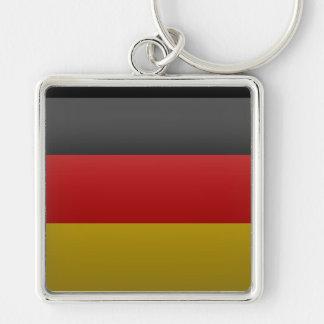 bandera de la República Federal de Alemania Llavero Cuadrado Plateado