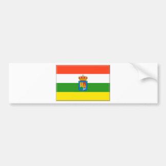 Bandera de La Rioja (España) Pegatina Para Auto