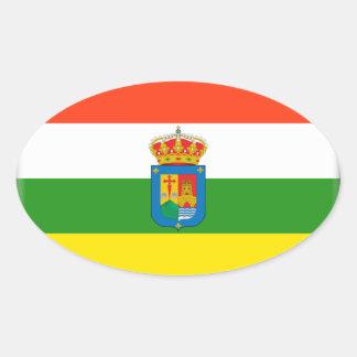 Bandera de La Rioja (España) Pegatina Ovalada
