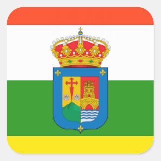 Bandera de La Rioja (España) Pegatina Cuadrada