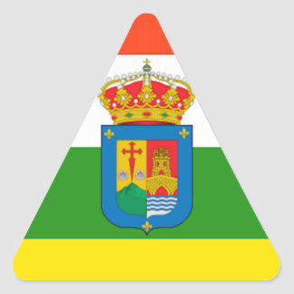 Bandera de La Rioja (España) Pegatina Triangular