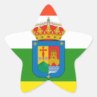 Bandera de La Rioja (España) Pegatina En Forma De Estrella