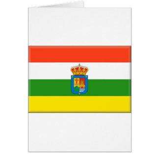 Bandera de La Rioja (España) Tarjeta De Felicitación