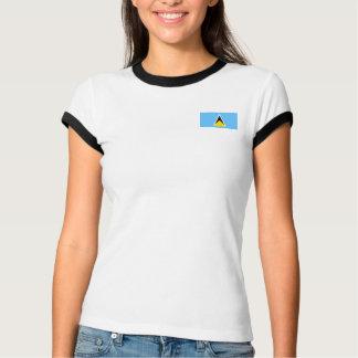 Bandera de la Santa Lucía + Camiseta del mapa
