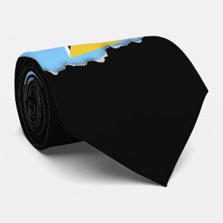 Bandera de la Santa Lucía Corbatas Personalizadas