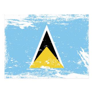 Bandera de la Santa Lucía del Grunge Postal