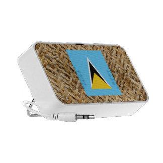 Bandera de la Santa Lucía en la materia textil iPod Altavoz