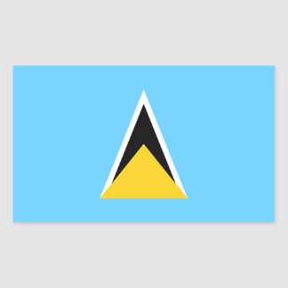 Bandera de la Santa Lucía Pegatina Rectangular